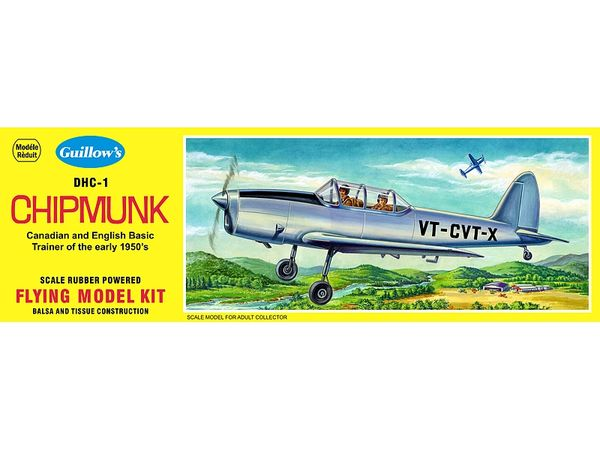 Guillow's DeHaviland DHC-1 Chipmunk Flying Balsa Wood Model Kit GUI-903