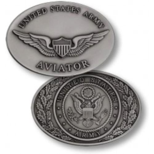 Army Aviator Wings Oval Challenge Coin NTM-48686