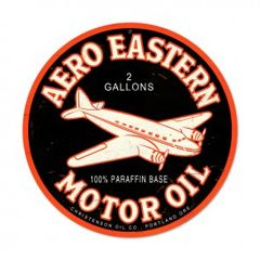 Aero Eastern Motor Oil Metal Sign SIG-0144