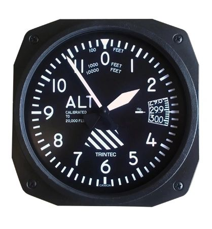 "10"" Altimeter Style Wall Clock OFF-0108"