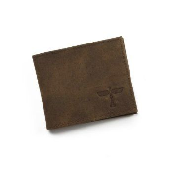 Boeing 1930s Totem Logo Distressed Leather Wallet BOE-0112