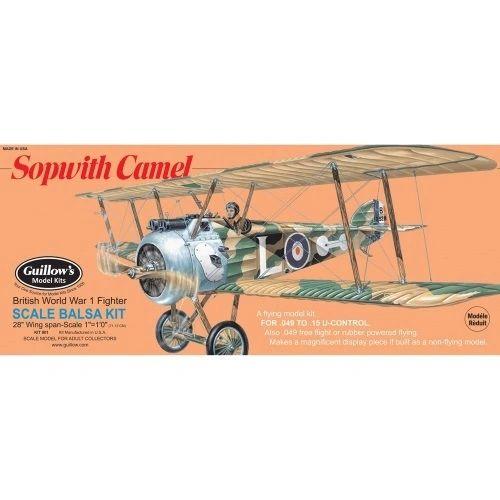 Guillow's Sopwith Camel Balsa Wood Model Airplane Kit GUI-801