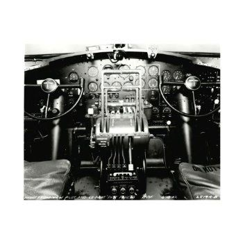Boeing B-17 Flying Fortress Cockpit Photo, Matted BOE-0113