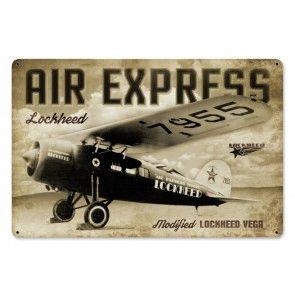 """Lockheed Vega """"Air Express"""" Metal Sign SIG-0153"""