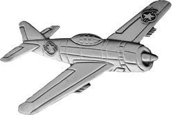 P-47 Thunderbolt Pewter Pin JEW-0106