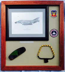 McDonnell Douglas F-4 Phantom Jet Framed Memorabilia Aviation Decor PI-0101
