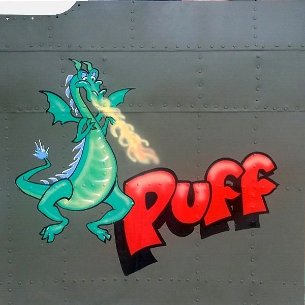 "NOSE ART PANEL- AC-130 & AC-47 Gunship, ""Puff"", Vietnam NAP-0123"