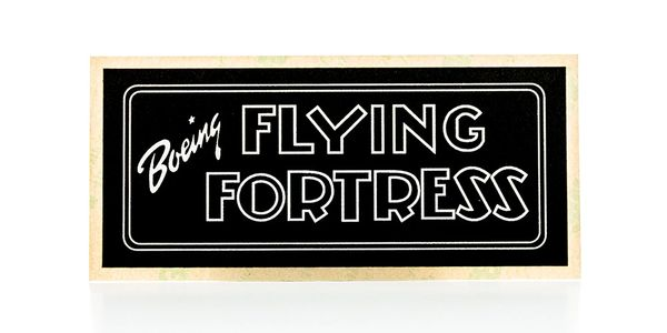 "Boeing B-17 ""Flying Fortress"" Instrument Panel Placard/Decal PLA-0103"