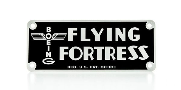 Boeing B-17 Flying Fortress Instrument Panel Placard PLA-0106