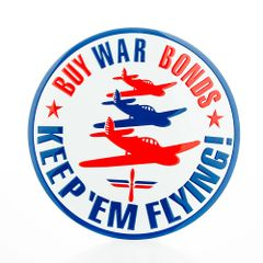 """Keep 'em Flying"" Home Front WWII Embossed Metal Sign SIG-0126"