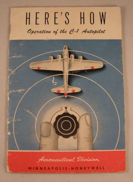 Original 1944 C-1 Autopilot Operation Manual LIT-0116