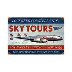 Lockheed Constellation Metal Sign SIG-0129