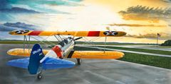 Sam Lyons Print, Stearman Sunrise LS-1088
