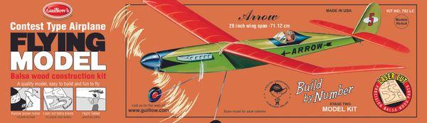 Guillow's 702 Arrow Laser-Cut Balsa Wood Flying Model Airplane GUI-702