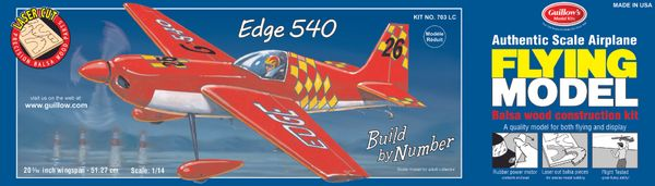 Guillow's 703 Edge 540 Laser-Cut Balsa Wood Flying Model Airplane GUI-703