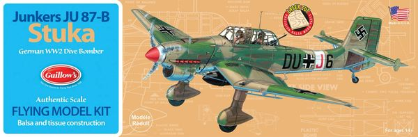 Guillow's 508 Ju 87-B Stuka Balsa Wood Model Airplane Kit GUI-508