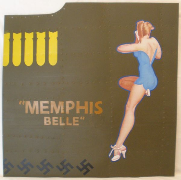 "Reproduction Nose Art Panel, B-17 Flying Fortress ""Memphis Belle"" NAP-0120"