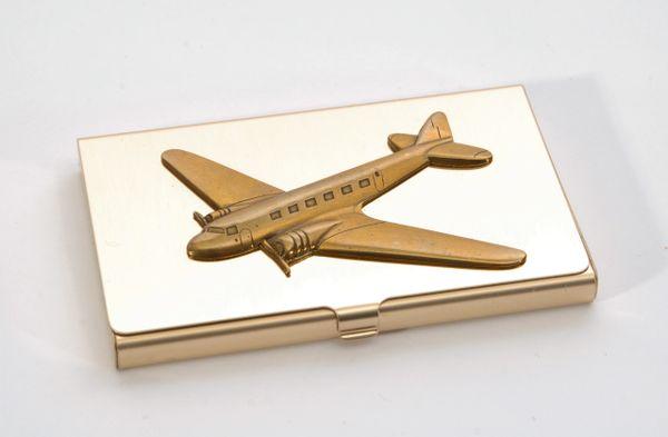 Douglas DC-3/C-47 Brass Business Card Holder OFF-0104