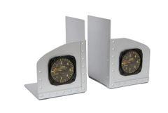 Riveted Aluminum Facsimile Aircraft Instrument Bookends PI-0104