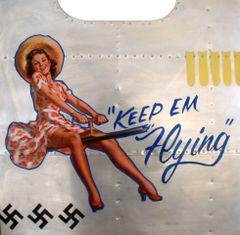 """Nose Art Panel- """"Keep Em Flying"""" NAP-0112"""