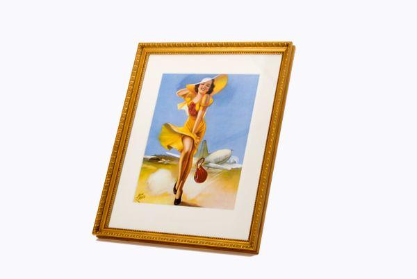 """Irene Patten """"Self Conscious"""" Framed Print ART-0101GF"""