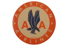 Original Vintage 1930s American Airlines Luggage Decal DEC-0117