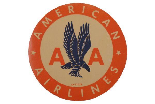 Original Vintage 1950s American Airlines Luggage Decal DEC-0117