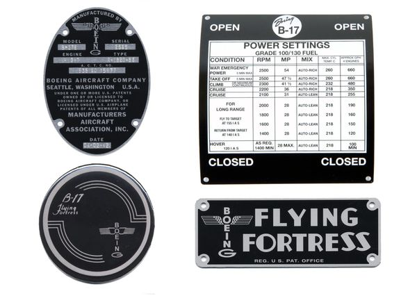 Boeing B-17 Flying Fortress Cockpit Grouping GRP-0112