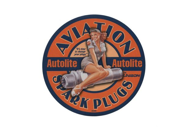 Autolite Aviation Spark Plugs Decal DEC-0123