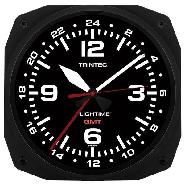 "Greenwich Mean Time 10"" Dual Time Clock TRI-0107"