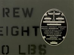 Display- B-17 Flying Fortress Data Plate Mounted on Aircraft Aluminum DPL-0117