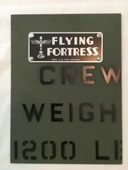 Mounted B-17 Flying Fortress Instrument Panel Placard PLA-0111