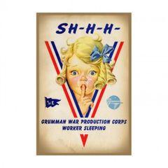 Grumman WWII Poster Metal Sign CAP-0103