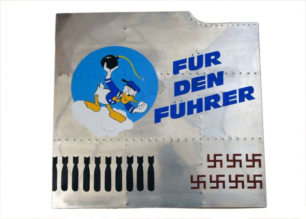 "Nose Art Panel- Donald Duck, ""Fur Den Fuhrer"" NAP-0114"