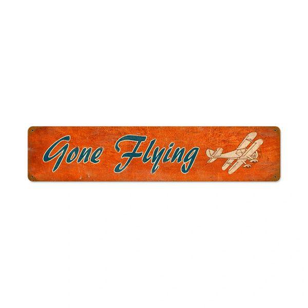 """""""Gone Flying"""" Metal Sign SIG-0117"""
