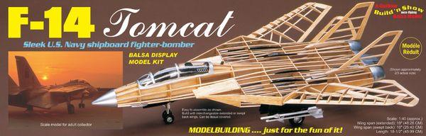 Guillow's Grumman F-14 Tomcat Balsa Wood Display Model GUI-1402