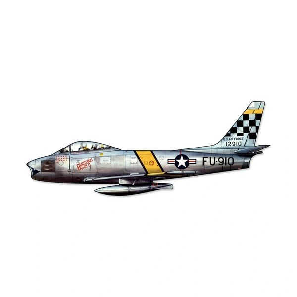 North American Aviation F-86 Sabre Cutout Metal Sign SIG-0127