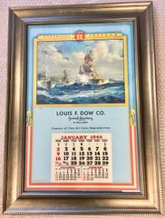 "Original WWII Framed Lithograph Calendar, ""Guardians of Freedom"", 1944 LGS-0205"