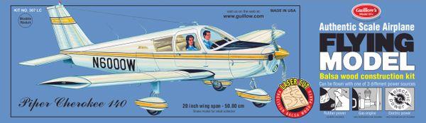 Guillow's Piper Cherokee 140 Balsa Wood Flying Model Kit GUI-307