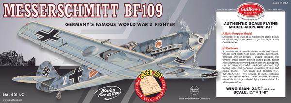 Guillow's Messerschmitt Bf 109 Balsa Wood Flying Model Kit GUI-401