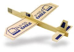 "Guillow's #26 Eagle ""Air Superiority"" Flyer 18 Plane Pack, Balsa Wood GUI-26-18"