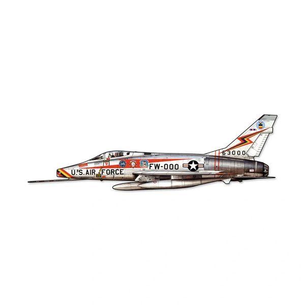 North American Aviation F-100 Super Sabre Cutout Metal Sign SIG-0131