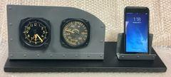 Cockpit Style Alarm Clock Desk Display w/Business Card/Phone Holder I-PI-0104