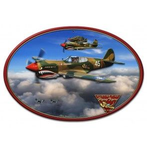 Curtiss P-40 War Hawk 3 Dimensional Metal Sign SIG-0303