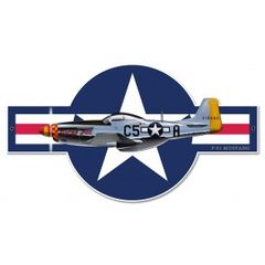 North American Aviation P-51 Mustang Plasma Cut Metal Sign SIG-0099