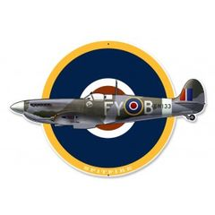 Supermarine Spitfire Plasma Cut Metal Sign SIG-0097