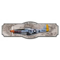 Large North American Aviation P-51 Mustang Metal Sign SIG-0209