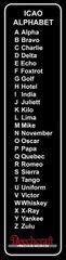 ICAO Phonetic Alphabet Metal Sign, Beechcraft SIG-0205B