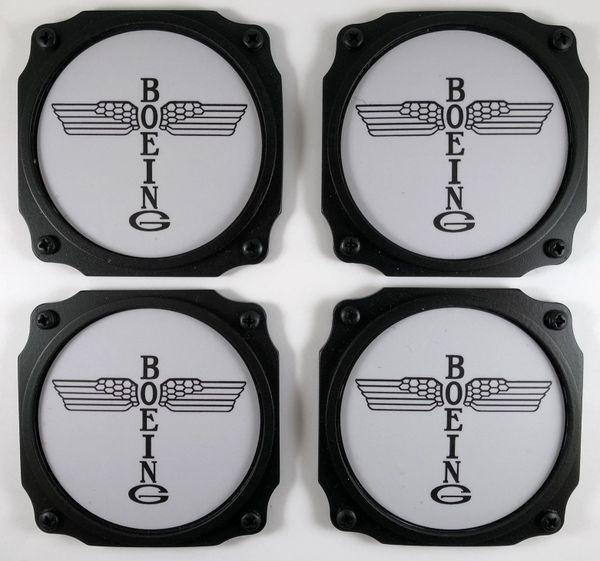 Early Boeing Logo Coasters, Set of 4 I-PI-0102A