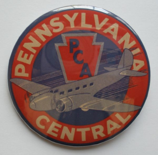 """Wholesale lot of 125 ea. """"Pennsylvania Central"""" Pin Back Buttons BTN-0114-125"""